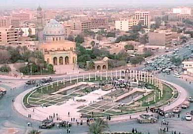la plaza en bagdad, fotografia a la hora justa del derribo de la estatua