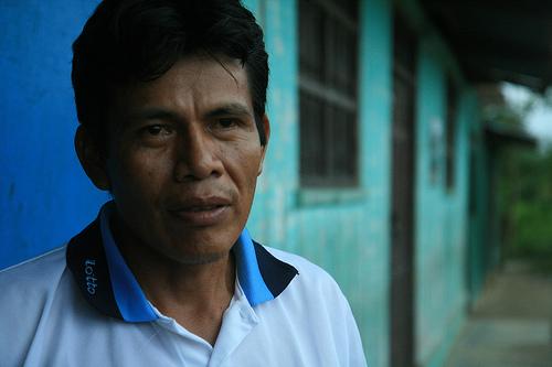 Salomón Aguanash, lider indígena de las tribus del Perú