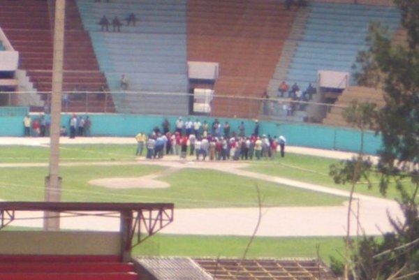 Stadium Chochi Sosa ubicado en la capital de Honduras está siendo utilizado por las fuerzas policiales y militares del régimen dictatorial para reprimir a los manifestantes pro-zelaya