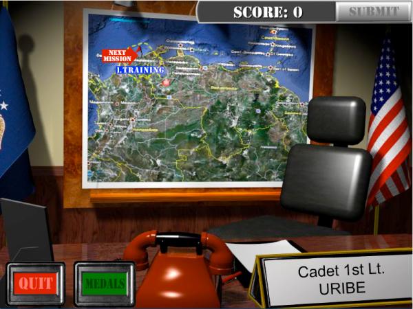 Sky Storm, desarrollado por la Compañía rusa Iriysoft para Addicting Games y que se basa en un ataque desde Colombia a Venezuela