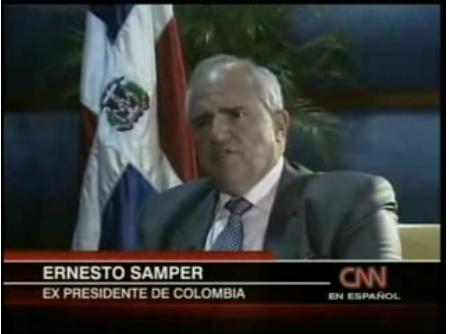 Entrevista a Ernesto Samper sobre las bases militares en Colombia, por CNN