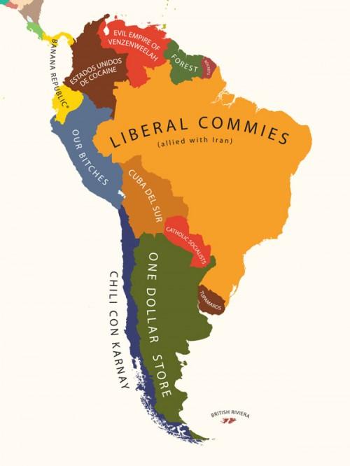 El Mapa de Latinoamérica (según Estados Unidos) | Guerra Digital ...