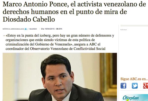 Marco Antonio Ponce conspiración contra venezuela ong washington